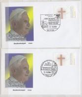 2 Briefe Zum Papstbesuch In Deutschland Mit SST Ansehen !!!!!!! - Päpste