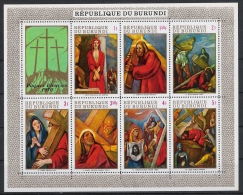 Burundi 1970 Mi# Bl. 40A ** MNH Ostern Gemälde Painting Kreuzweg - 1970-79: Ungebraucht