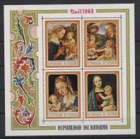 Burundi 1968 Mi# Bl. 30A - 31A ** MNH  Weihnachten Gemälde Christmas Painting Madonna Mit Kind - 1962-69: Ungebraucht