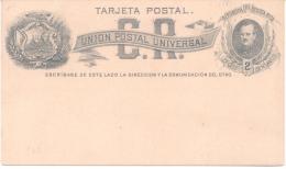 TARJETA POSTAL  COSTA RICA AÑO 1883 - Costa Rica