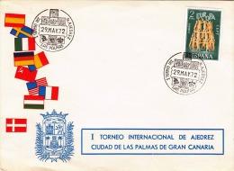 Spanien 1972, Europamarke Auf Erstag-Schmuckbrief, 2 Sonderstempel - 1931-Heute: 2. Rep. - ... Juan Carlos I