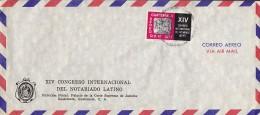 Guatemala Airmail Aereo XIV Congresso International Del NOTARDINO LATINO Cover Letra  1977 Maya-Relief - Guatemala