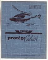 Protège Cahier Bleu Erbé Hélicoptère Alouette Avec Tables Et Mesures 60' - Transporte
