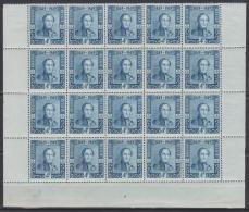 """Belgique N° 810 *** X20 Pl 4 - Centenaire Du 1er Timbre-poste De Belgique. SM Le Roi Léopold Ier """"Epaulettes"""" - 1949 - Belgio"""