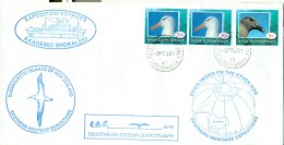 New Zealand Nouvelle Zelande 8 Feb 1995 Terre De Ross Christchurch Icebreaker Brise-glace Akademik Shokalski Antarctique - Lettres & Documents