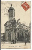 SIDI BEL ABBES , L' Eglise , CPA ANIMEE , 1912 - Sidi-bel-Abbès
