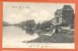 HB238, Torino, Riva Del Po E Castello Del Valentino, 2811, Précurseur, Circulée 1902 - Castello Del Valentino