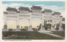 The White Marble Pailow, Ming Tombs, Peking - Chine