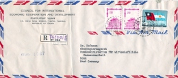 Luftpost  Einschreibe Beleg  1966 'Taipai China  -  Bonn - 1949 - ... Volksrepublik