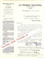 Brief Van 1933 - LOT - LE PROGRES INDUSTRIEL - Machines Et Outils - Non Classés