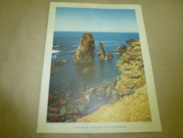 1954 Grande Photo En Couleurs De Molinard (27cm X 21cm)  Les Aiguilles De PORT COTTON (Belle-ile)  Envoi Gratuit - Orte
