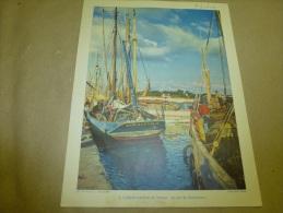 """1954 Grande Photo En Couleurs De Rod. Rieder (27cm X 21cm)  Le Chalutier """"Gars De Merlin"""" à CONCARNEAU..  Envoi Gratuit - Bateaux"""