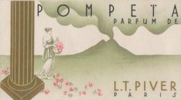 CARTE PARFUMEE PARFUM POMPETA DE PIVER  TRES BON ETAT  ! ! ! - Perfume Cards