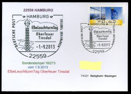 87102) BRD - SoST-Karte 16/273 - 22559 HAMBURG Vom 1.9.2013 - Elbe Leuchtturm Tage Oberfeuer Tinsdal - BRD