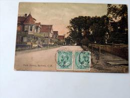 Carte Postale Ancienne : SYDNEY C. B. , Park Street , Stamps 1909 - Cape Breton