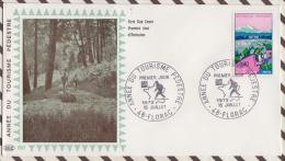 FDC 149  ENVELOPPE 1ER JOUR 1972 ANNEE DU TOURISME PEDESTRE - FDC