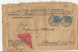 == DE 1921 BRIEFE  BREMENHAFEN  Nachnahme Germania , Mängel - Briefe U. Dokumente