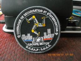 Ecusson Police Moto Pour Collection - Ecussons Tissu