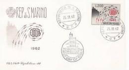 SAN MARINO  1962 EUROPA CEPT FDC /zx/ - 1962