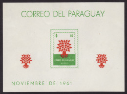 Paraguay #C309a Imperf. S/s, F-VF Mint NH ** World Refugee Year - Paraguay