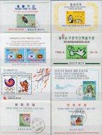 Südkorea Collection 8 Blocks ** / O 37€ Märchen Tanz Taube Erde Tier Foglietto M/s Dancing Flam Bloc Map Sheet Bf Corea - Märchen, Sagen & Legenden