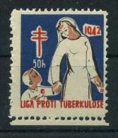 1942 Czech Red Cross TUBERCULOSIS Christmas Seals - Masarykova Liga Proti Tuberkuloze, RARE, MNH (**) - Disease