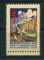 1938 Red Cross TUBERCULOSIS Christmas Seals - Masarykova Liga Proti Tuberkuloze, NA Slovensku, RARE, MNH (**) - Disease