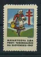 1947 Red Cross TUBERCULOSIS Christmas Seals - Masarykova Liga Proti Tuberkuloze, NA Slovensku, RARE, MNH (**) - Disease