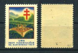 1939 Red Cross TUBERCULOSIS Christmas Seals - Masarykova Liga Proti Tuberkuloze, NA Slovensku, RARE. - Disease