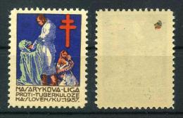 1937 Red Cross TUBERCULOSIS Christmas Seals - Masarykova Liga Proti Tuberkuloze, NA Slovensku, RARE. - Disease