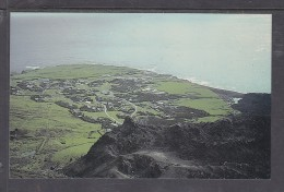 TRISTAN DA CUNHA: VIEW OF SETTLEMENTWITH PART OF THE 1961 VOLCANO IN FOREGROUND - St. Helena