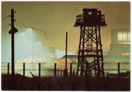 CPSM Couleur Mur De BERLIN Sektorengrenze Wilhelmsruh Mirador No Man's Land Mauer Nuit Nocturne 1960 TBE $$ - Berliner Mauer
