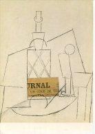 """Paris Musée Arts Art Moderne Pablo Picasso """"Bouteille Et Journal Sur Une Table (donation Cuttoli-Laugier) - Francia"""