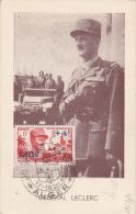Journées Leclerc 1948 - Carte Maximum - Alger - Algerien (1924-1962)