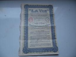 LA VIE Assurances Sur La Vie Humaine (1935) - Actions & Titres