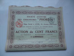 CHAUSSURES PHOREOS (1931) LYON - Shareholdings