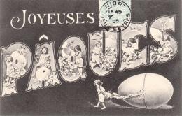 CPA - JOYEUSES PÂQUES Avec Enfants 1905 - Easter