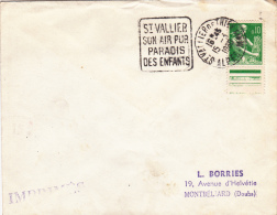 Saint-Vallier De Thiey 1960 - 06 - Daguin - Air Pur - Paradis Des Enfants - Postmark Collection (Covers)