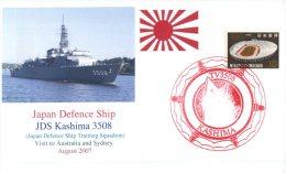 (194) Navy Cover - Ship Cover - JDS Kashima 3508 Visit To Sydney - 2007 - Militaria