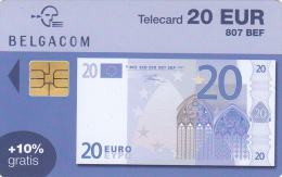Carte Biljet 20 Euro 31/12/2004 Used Rare ! - Belgien