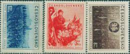 JK0110 Czechoslovakia 1953 February Events By Reading The Militia Speech Stalin 3v MNH - Nuovi