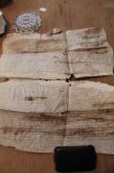 1329  -  PARCHEMIN  EN  PEAU  ( TRES  FATIGUE  ) PROVENANCE CHATEAU DE CALAOUE  PRES  DE  LOMBEZ    GERS - Documentos Históricos