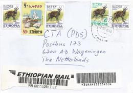Ethiopia 2006 Awasa Elections Bushbuck Antilope Bar-coded Registered Cover - Ethiopië