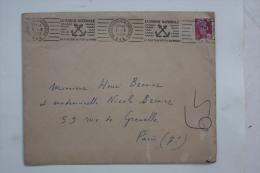Enveloppe 1953 Marseille Bd De La Corderie --> Paris, Affr. 10f Marianne Gandon YT 811 OMEC RBV Marine Nationale - Frankreich