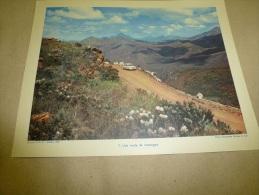 Photo Ambassade Afrique Du Sud En 1957  (27cm X 21cm) 1 Automobile, 1 Homme Et 1 Femme Arrêtés Sur Une Route De Montagne - Africa