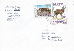 Ethiopia 2000 Addis Ababa Historic Buildings Bushbuck Antilope Cover - Ethiopië