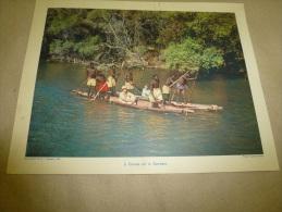 Photo Caméra-Press En 1957  (27cm X 21cm)   Canoës Sur Le Zambèze (gros Plan Identifiables)  Envoi Gratuit - Afrique