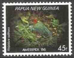 Papua New Guinea 1986 Mi 527 ** Pitta Erythrogaster : Red-breasted Pitta / Rotbrustpitta / Roodbuikpitta - Zangvogels