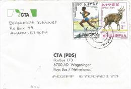 Ethiopia 2003 Awassa Athletics Marathon Running Bushbuck Antilope Cover - Ethiopië