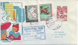 PEROU - 1960-  PREMIERE LIAISON LIMA-PARIS , PAR BOEING 707, AIR FRANCE - - Peru